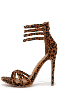 On the Prowl Leopard Ankle Strap Heels at Lulus.com!