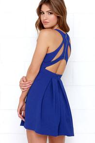 Test Drive Cobalt Blue Dress at Lulus.com!