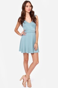 LULUS Exclusive World Go 'Round Light Blue Dress at Lulus.com!