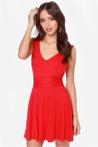 LULUS Exclusive World Go 'Round Red Dress at Lulus.com!