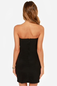 LULUS Exclusive Bodycon and Soul Strapless Black Dress at Lulus.com!