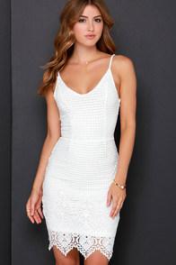 Midsummer Dreamin' Ivory Lace Dress at Lulus.com!