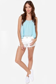 Lucy Love Sunshine Light Blue Tank Top at Lulus.com!