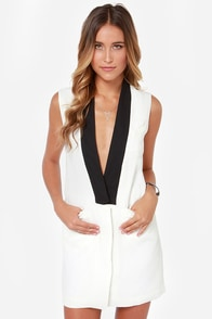 BB Dakota Aslan Black and White Dress at Lulus.com!