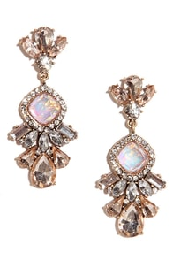 Make Your Spark Pink Rhinestone Earrings at Lulus.com!