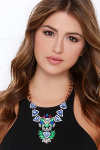 Totem of Glam Rose Gold Rhinestone Necklace at Lulus.com!