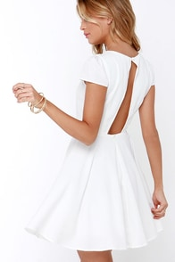 Blessing In Disguise Ivory Skater Dress at Lulus.com!