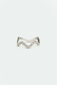 Crown Goes Wild Silver Rhinestone Ring at Lulus.com!