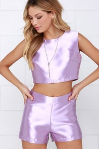 Glamorous Love or Luster Lavender Two-Piece Set at Lulus.com!