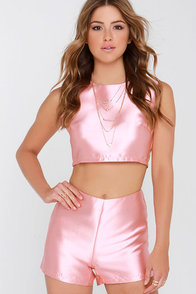 Glamorous Love or Luster Peach Two-Piece Set at Lulus.com!