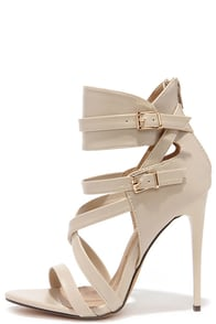 Got It Going On Nude Caged Heels at Lulus.com!