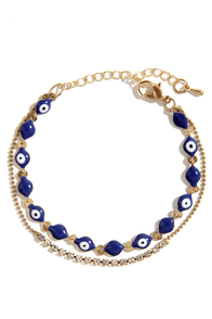 Eye Love You Blue Bracelet at Lulus.com!