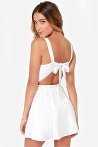 Rhythm Polka Daisy White Print Dress at Lulus.com!