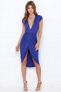 I'm Into You Indigo High-Low Wrap Dress at Lulus.com!