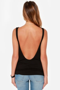 Rhythm My Scoop Washed Black Tank Top at Lulus.com!