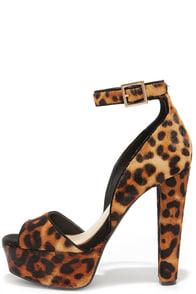 Jessica Simpson Athens2 Natural Leopard Pony Fur Platform Heels at Lulus.com!