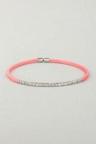 Teacher's Petite Coral Rhinestone Bracelet at Lulus.com!