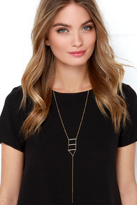 Top of the Ladder Gold Necklace at Lulus.com!