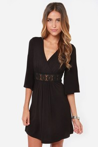 Lucy Love Vivienne Black Dress at Lulus.com!