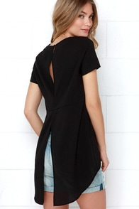 Glamorous Expert At Everything Black High-Low Top at Lulus.com!