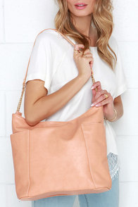 Sights to See Peach Purse at Lulus.com!