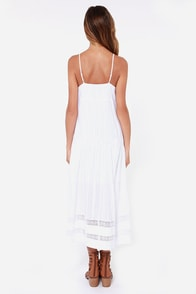 Desert Angel Crocheted White High-Low Dress at Lulus.com!