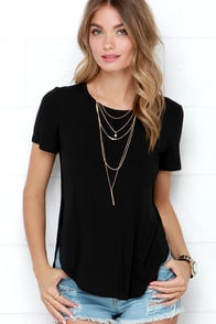 Tee Spirit Black Tee at Lulus.com!