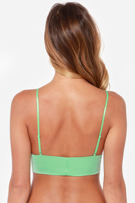 For Love & Lemons Infamous Plunging Green Bralette at Lulus.com!