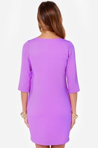 Cutout of Control Purple Shift Dress at Lulus.com!