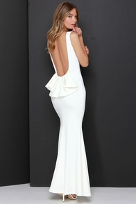 Flare Say Ivory Maxi Dress at Lulus.com!
