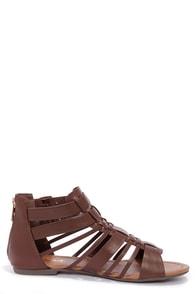 Soda Gatlin Brown Gladiator Sandals at Lulus.com!