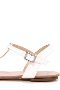 Maya 1 White T Strap Thong Sandals at Lulus.com!