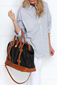 Gotta Run Tan and Black Weekender Bag at Lulus.com!