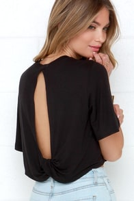 The Fifth Label Across The Sea Black Crop Top at Lulus.com!