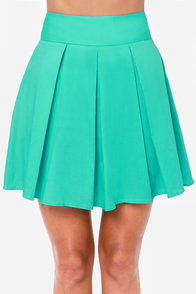 Automatic Awesome Pleated Turquoise Skirt at Lulus.com!