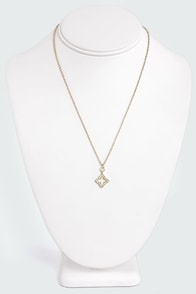 Four Sides to the Story Gold Rhinestone Necklace at Lulus.com!