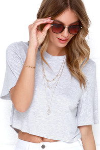 The Fifth Label Across The Sea Grey Crop Top at Lulus.com!
