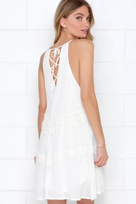 Goodness Lace-ious Ivory Lace Shift Dress at Lulus.com!