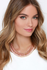 Bedazzle Me Pink Statement Necklace at Lulus.com!
