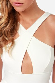Cross Over Backless Ivory Dress at Lulus.com!