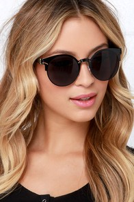 Chick-Flick Black Sunglasses at Lulus.com!