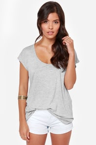 Volcom Get Low Cutout Grey Top at Lulus.com!