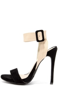 Things to Duo Black and Nude Heels at Lulus.com!