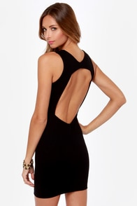 Home Court Advantage Backless Black Dress at Lulus.com!