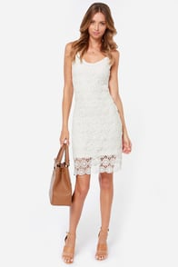 Jack by BB Dakota Dax Ivory Lace Midi Dress at Lulus.com!