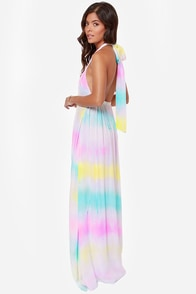 Totally Beachin' Tie-Dye Halter Maxi Dress at Lulus.com!