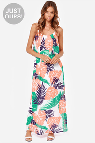 LULUS Exclusive Welcome to the Jungle Leaf Print Maxi Dress at Lulus.com!