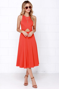 Drops of Jupiter Orange Midi Dress at Lulus.com!