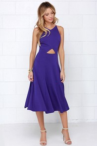 Drops of Jupiter Indigo Midi Dress at Lulus.com!