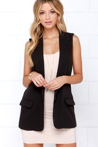 BB Dakota Malcolm Black Vest at Lulus.com!